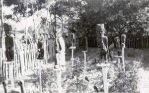 An exhibition in the garden, village fair