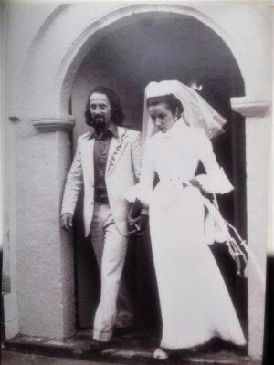 1973. Venčanje, Milan i Nada