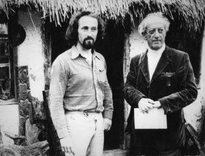 1975. Oto Bihalji ispred prvog ateljea