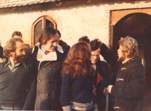 1977. Sa Milićem od Mačve i Đ. Kadijevićem reziserom