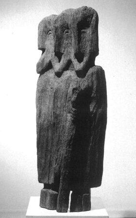 1987. Trojica 127x50x32cm