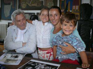 2011. Vladeta Jerotić i Ivana sa decom